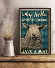 Why Hello Sweet Cheeks Sheep 16x24 Poster lifestyle-poster-3