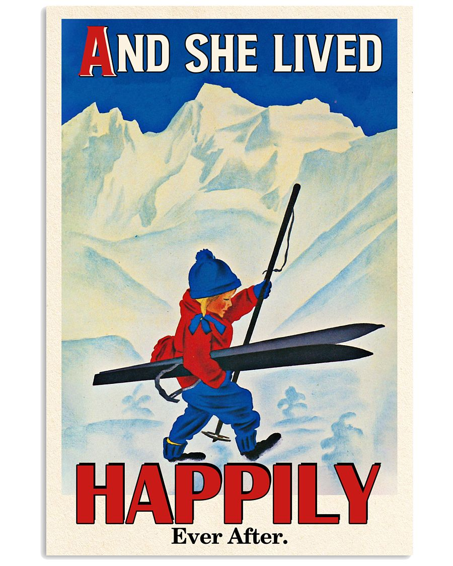 Happily Ever After Skiing 16x24 Poster
