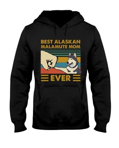 Retro Blue Best Alaskan Malamute Mom Ever