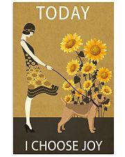 Sunflower Vintage Choose Joy Border Terrier 11x17 Poster front