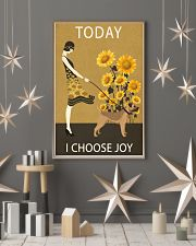 Sunflower Vintage Choose Joy Border Terrier 11x17 Poster lifestyle-holiday-poster-1