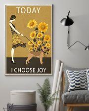 Sunflower Vintage Choose Joy Border Terrier 11x17 Poster lifestyle-poster-1