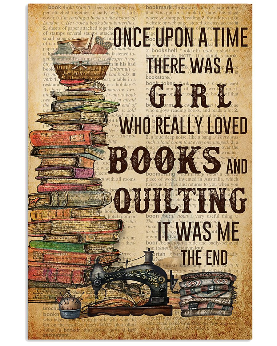 Once Upon A Time Reading Quilting 11x17 Poster