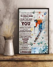 Skiing Today Is A Good Day 16x24 Poster lifestyle-poster-3