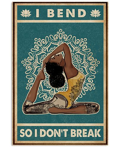 Retro Teal I Bend Yoga Black Girl