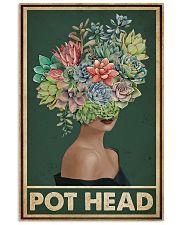 Retro Green Pot Head Succulent 16x24 Poster front