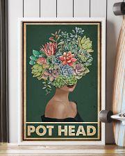 Retro Green Pot Head Succulent 16x24 Poster lifestyle-poster-4