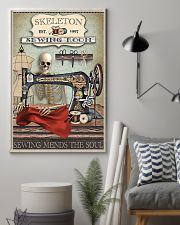Sewing Room Skeleton 16x24 Poster lifestyle-poster-1