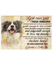 God Once Said Border Collie 17x11 Poster front