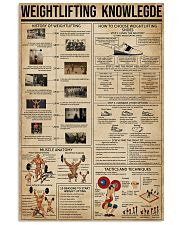Weightlifting Knowledge 11x17 Poster front