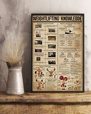 Weightlifting Knowledge 11x17 Poster lifestyle-poster-3