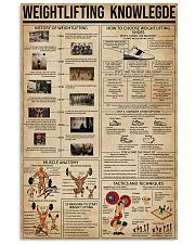 Weightlifting Knowledge 16x24 Poster front