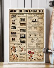 Weightlifting Knowledge 16x24 Poster lifestyle-poster-4