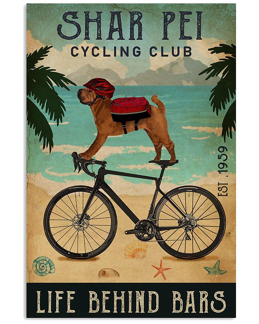 Cycling Club Shar Pei 11x17 Poster