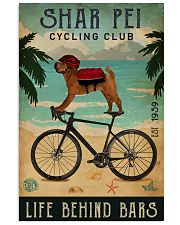 Cycling Club Shar Pei 11x17 Poster front