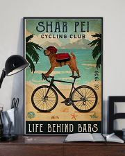 Cycling Club Shar Pei 11x17 Poster lifestyle-poster-2