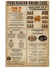 Pomeranian Knowledge 11x17 Poster front