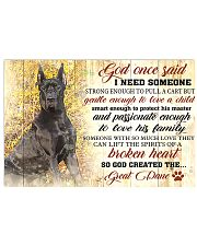 God Once Said Great Dane 17x11 Poster front