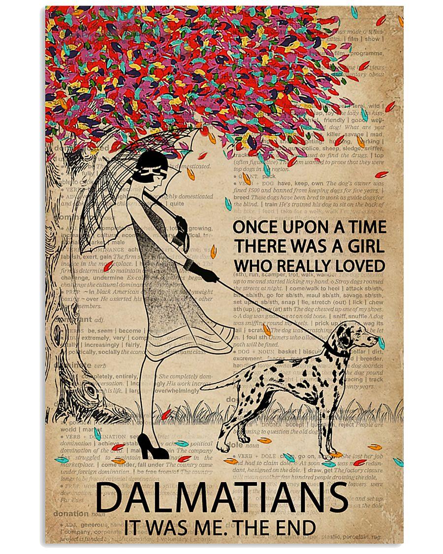 Dictionary Girl Once Upon Dalmatian 11x17 Poster