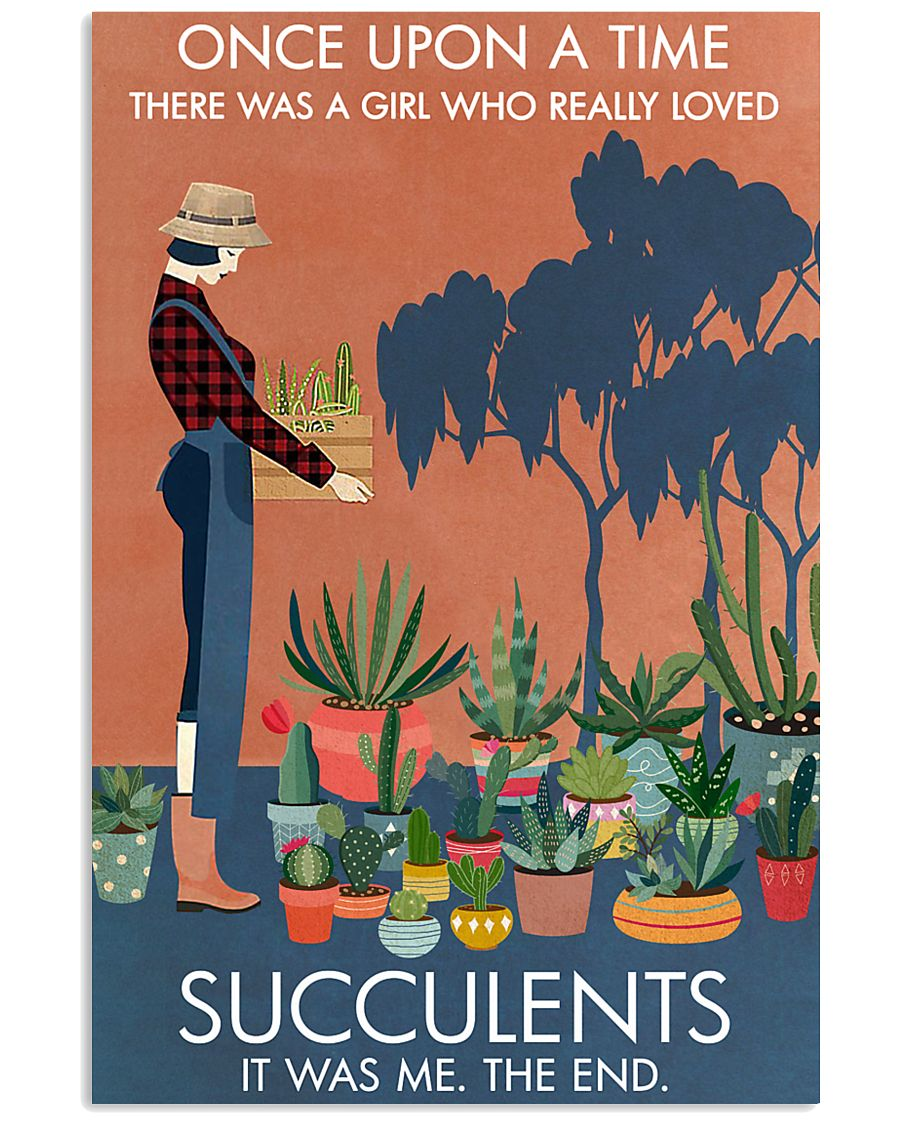 Vintage Once Upon A Time Succulent 16x24 Poster