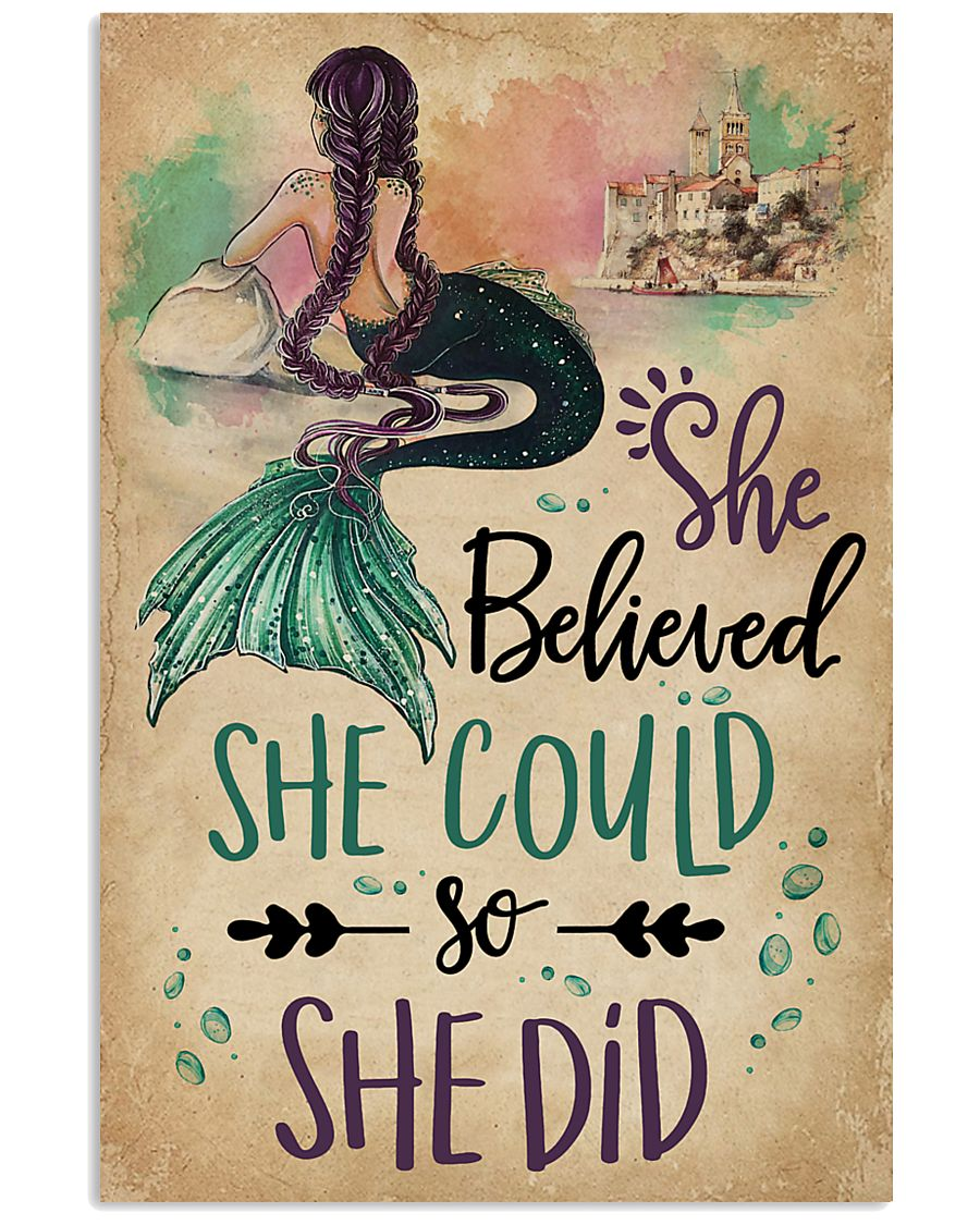 She Believe She Could Mermaid 11x17 Poster