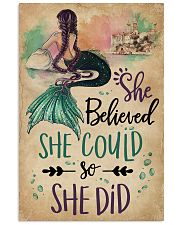 She Believe She Could Mermaid 11x17 Poster front