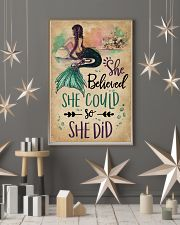 She Believe She Could Mermaid 11x17 Poster lifestyle-holiday-poster-1