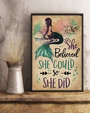 She Believe She Could Mermaid 11x17 Poster lifestyle-poster-3