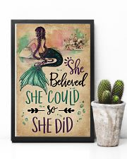 She Believe She Could Mermaid 11x17 Poster lifestyle-poster-8