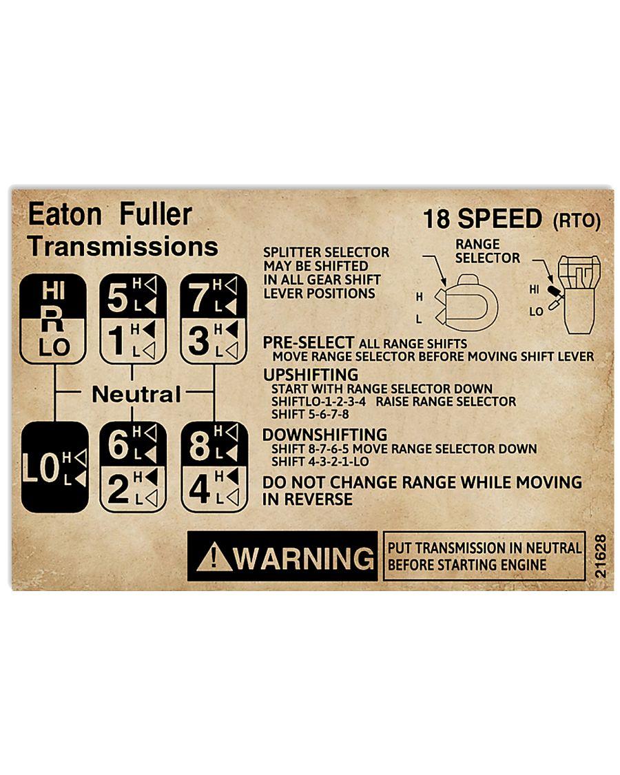 Fuller Transmissions Trucker 17x11 Poster