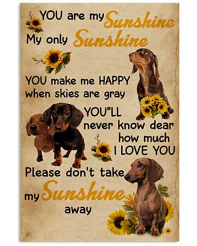 You Are My Sunshine Dachshund