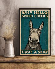 Have A Seat Donkey 16x24 Poster lifestyle-poster-3