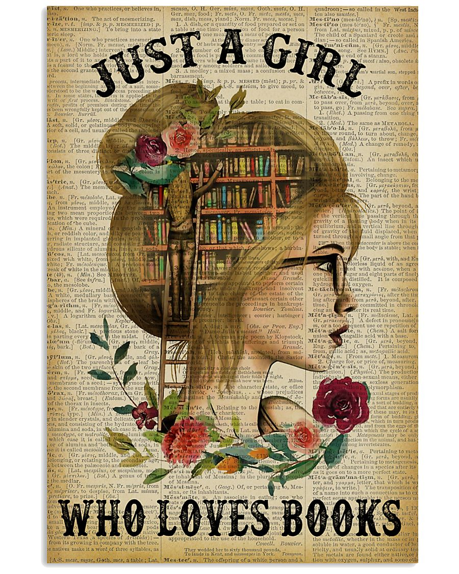 Just A Girl Who Loves Books Blond Reading 16x24 Poster