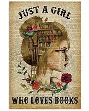 Just A Girl Who Loves Books Blond Reading 16x24 Poster front