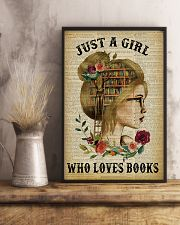 Just A Girl Who Loves Books Blond Reading 16x24 Poster lifestyle-poster-3