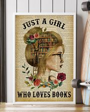 Just A Girl Who Loves Books Blond Reading 16x24 Poster lifestyle-poster-4