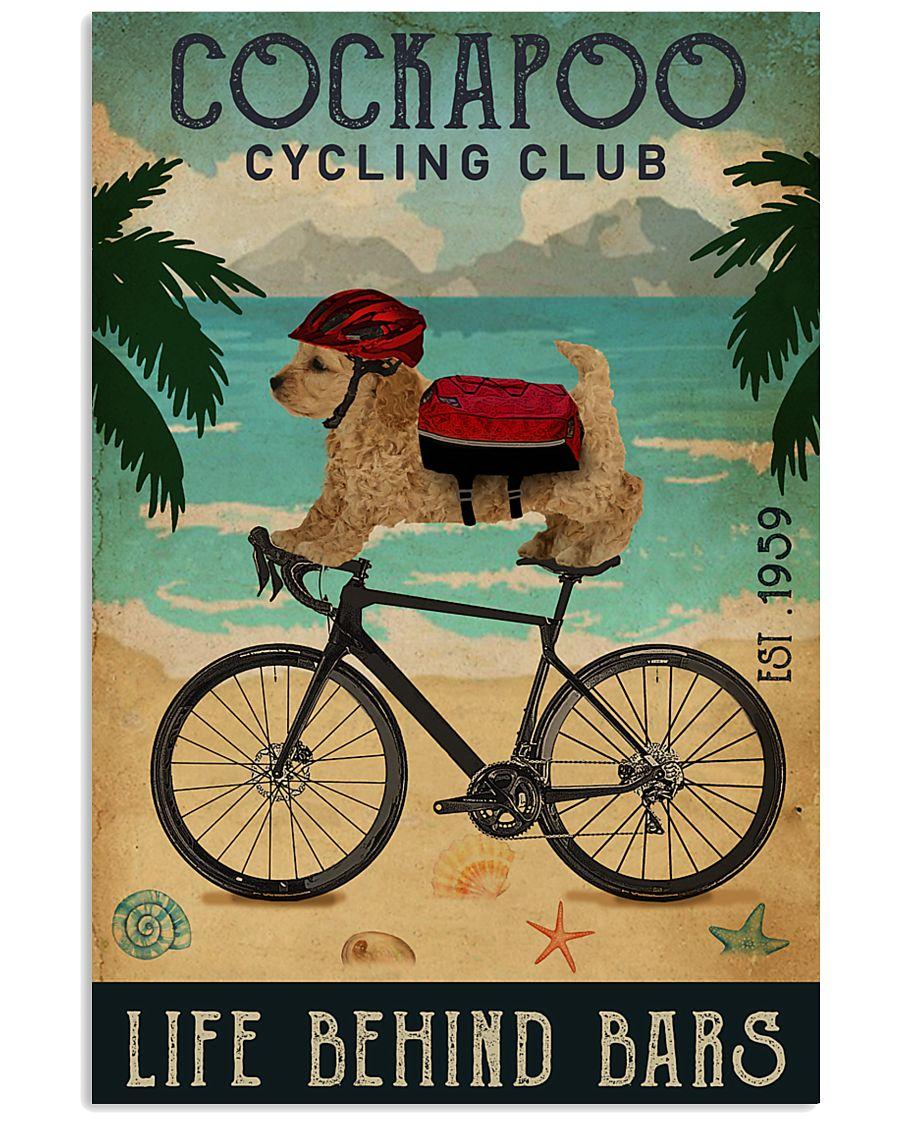 Cycling Club Cockapoo 11x17 Poster
