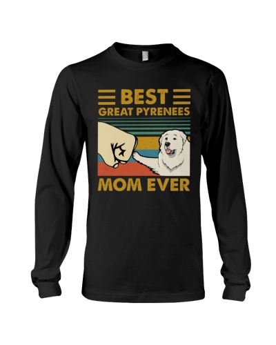 Retro Blue Best Great Pyrenees Mom Ever