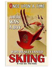 Once Upon A Time A Boy Loved Skiing 16x24 Poster front