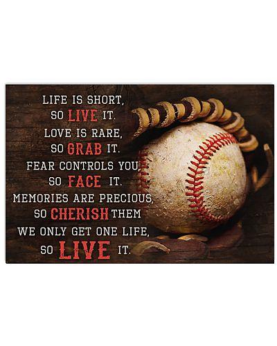 Baseball Life Is Short So Live It