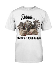 Reading Owl Shhhh I'm Self Isolating - On Sale Classic T-Shirt front