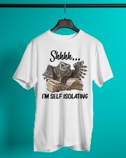 Reading Owl Shhhh I'm Self Isolating - On Sale Classic T-Shirt lifestyle-mens-crewneck-front-3