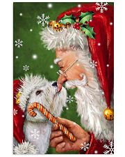 Westie Smile With Santa Christmas 11x17 Poster front