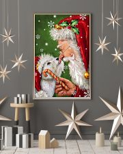 Westie Smile With Santa Christmas 11x17 Poster lifestyle-holiday-poster-1