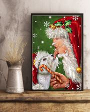 Westie Smile With Santa Christmas 11x17 Poster lifestyle-poster-3