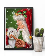 Westie Smile With Santa Christmas 11x17 Poster lifestyle-poster-8