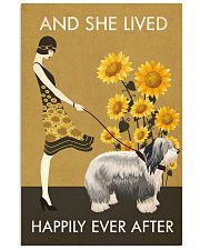 Sunflower Vintage Happily Old English Sheepdog 11x17 Poster front