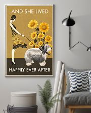 Sunflower Vintage Happily Old English Sheepdog 11x17 Poster lifestyle-poster-1