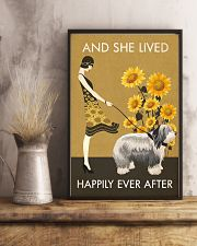 Sunflower Vintage Happily Old English Sheepdog 11x17 Poster lifestyle-poster-3