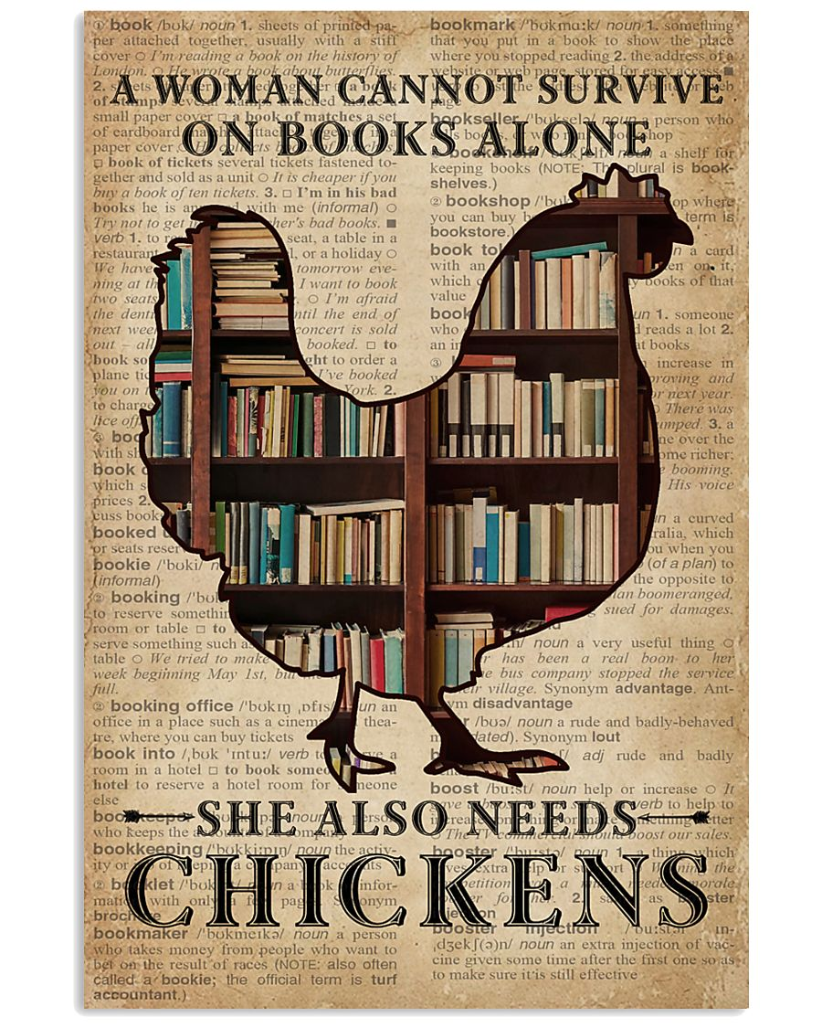Survive On Books And Chickens 11x17 Poster